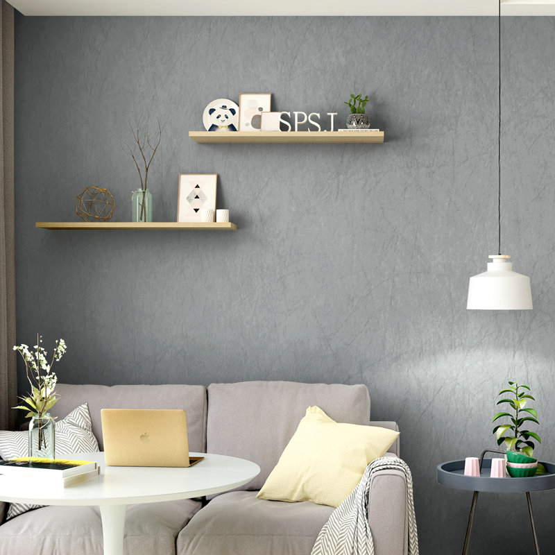 Modern Simple Grey Wallpaper 3D Natural Silk Non-woven Wall Paper For Living Room Bedroom Background Wall Covering 3D Home Decor modern simple non woven black white geometric pattern hexagonal honeycomb wallpaper living room tv sofa background wall covering