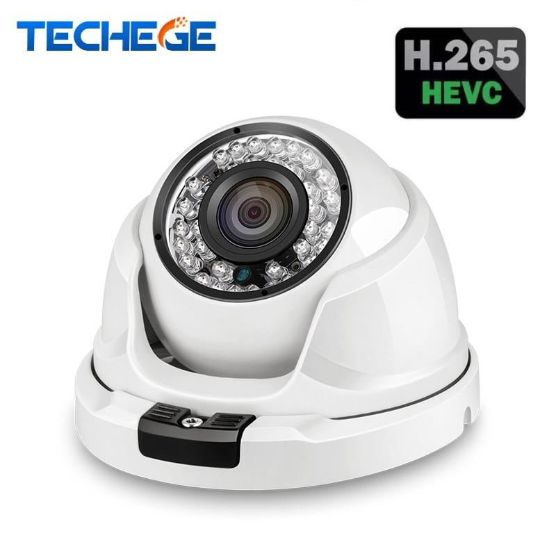 Techege H.265 4MP 2592*1520 Dôme IP Caméra de Surveillance Vidéo Caméra Onvif RTSP Email Alerte CCTV Caméra DC 12 v 48 v PoE Option
