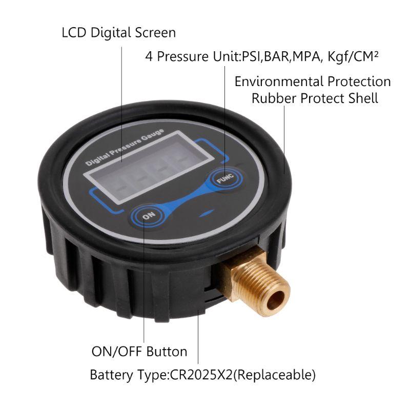 0-200PSI LCD digital reifen manometer auto fahrrad motorrad reifen tester luft PSI meter 1/8NPT