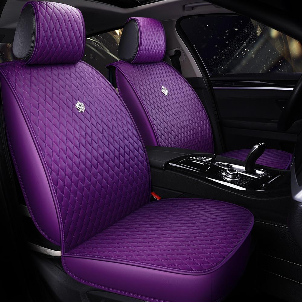 Car-Seat-Covers Purple Toyota Interiors-Accessories Automobile Universal Subaru Honda