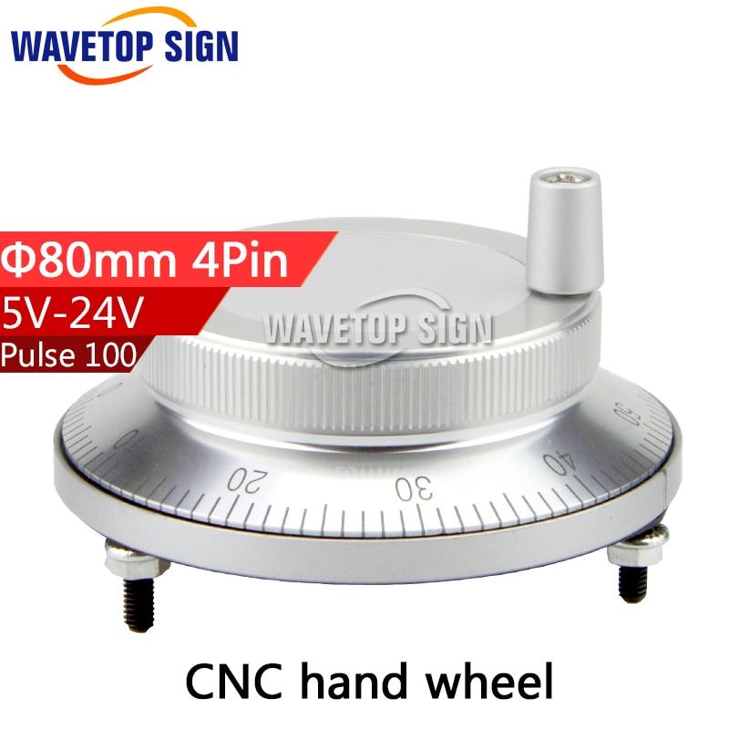 CNC electronic hand wheel handwheel Silver color diameter 80mm Pulse number 100 voltage 5v-24v number of pins 4 mp620 mp622 mp625 projector color wheel mp620 mp622 mp625