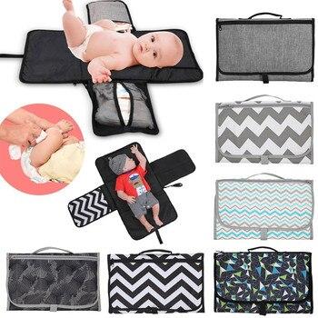 New 3 in 1 Waterproof Changing Pad Diaper Travel Multifunction Portable Baby Diaper Cover Mat Clean Hand Folding Diaper Bag 1