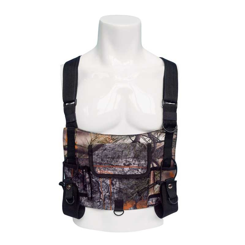 2019 камуфляжная тактическая сумка тренировочная Сумка радио жилет грудь снаряжение Передняя сумка мешок разгрузочный жилет буровая рация