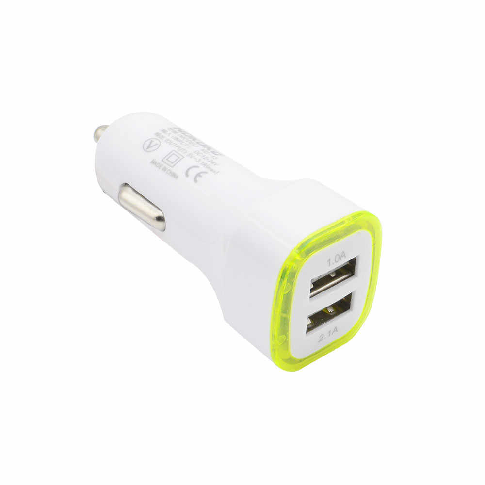12/24 V 3.1A LED USB Dual 2 Port Adaptor Soket Charger Mobil untuk iPhone/Samsung/HTC IPad Mini 1/2 iPhone 5/6/6 IPod Mobil Styling