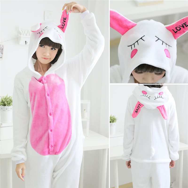 3f0aed83ba Halloween Animal Costume Onesies For Adults Overall Pajamas Autumn Winter  Women Flannel Animals Pajamas Hooded Cosplay C061-in Anime Costumes from  Novelty ...