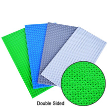 16*32Dots Double Side Base Plate For Small Brick Baseplate Board DIY Building Blocks Parts Compatible Education Toy for Children