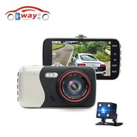 Bway Original 4 0 Inch IPS Screen Car DVR Camera Dual Lens Rearview Camera400B DVR Dash