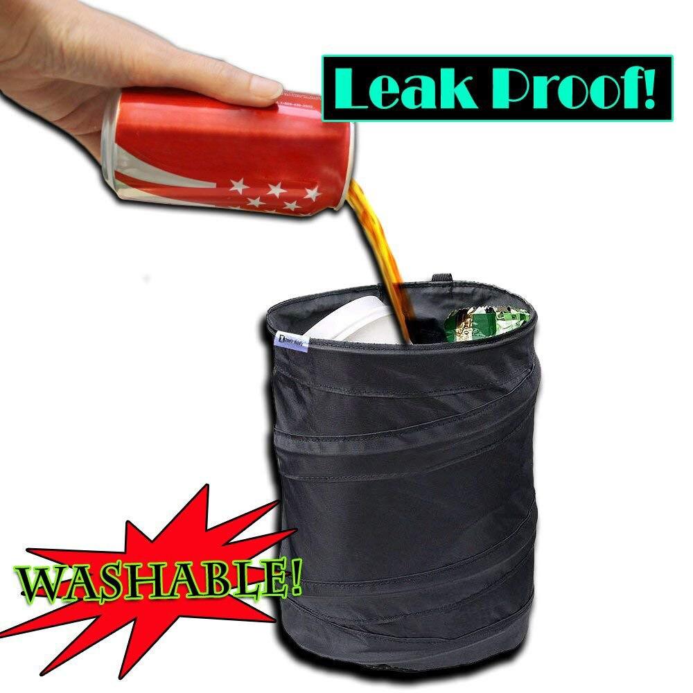 Car Trash Bin Car Dust Bin Storage Bucket Trash Can Container Rv Pop Up Garbage Bag Foldable Basurero Para Auto