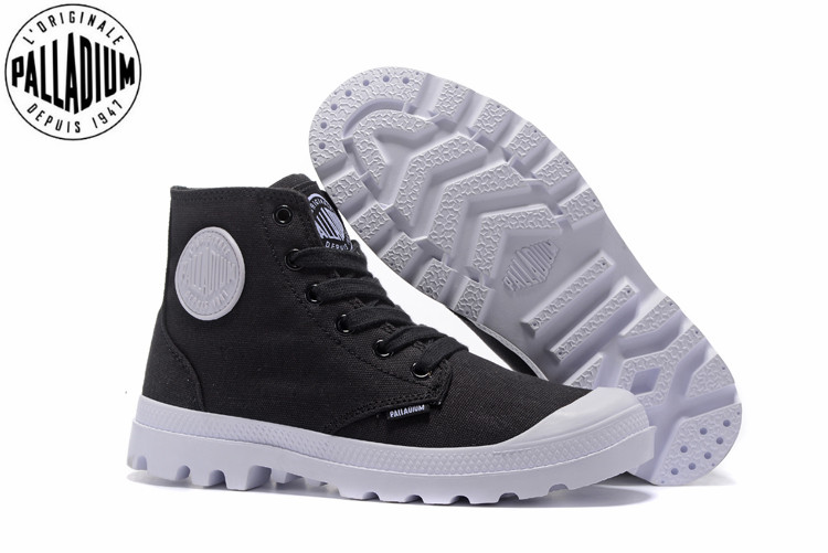 d84831a9064 US $62.0 |PALLADIUM PAMPA HI ORIGINALE TC Sneakers black and white Classic  Canvas Shoe Ankle Boots Fashion Casual Shoes 40 44-in Men's Casual Shoes ...