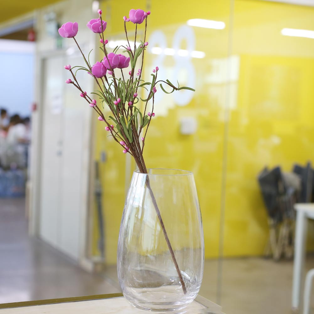6 Heads Artificial Flowers PE Foam Rose Rubber Scrapbooking Fake ...