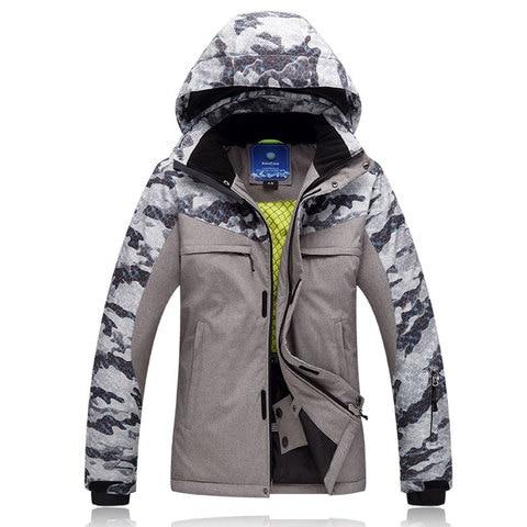 Respirável à Prova de Vento Terno de Esqui de Inverno ao ar Livre dos Homens à Prova Placa de Esqui Coreia do Estilo Nova Impressão Água Dupla Jacket Frete Grátis d'