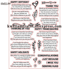 Happy Birthday HOLIDAYS Scrapbook DIY photo cards account rubber stamp clear stamp transparent stamp 14x19cm KW7081201(China)
