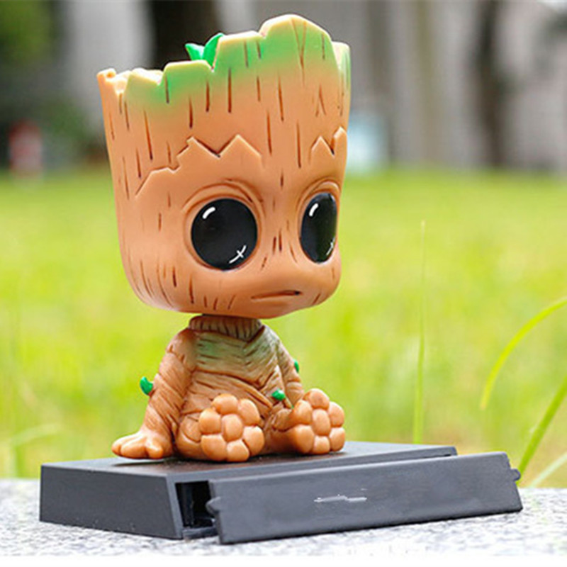 Mini Deadpool Baby Groot Action Figures X-Men PVC Toy Collection Car Accessories