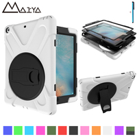 For IPad 5 Air 1 Case With Touch Pen Retina Safe Shockproof Heavy Duty Silicone Hard