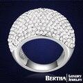 Роскошные группа кольцо инлей с элементами Swarovski австрийский хрусталь горный хрусталь мода обручальные кольца для женщин мужские Anillos Mujer