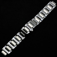 Silver 9mm/10mm/11mm Watch Strap for Women Watch Solid Stainless Steel Band Strap for Cartier Wristwatch