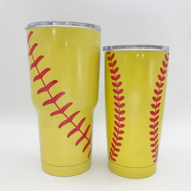 Baseball Tumbler 30oz Softball Football Soccer Cup 20OZ Insulated Vacuum Insulated Sports Coach Travel Mug Stainless Steel