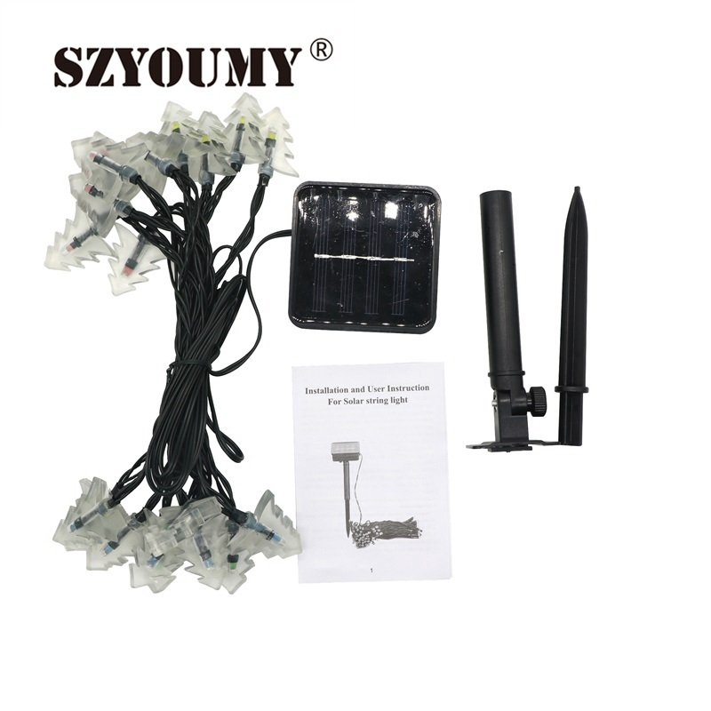 Led Lighting Lights & Lighting Szyoumy 4.8m 20 Led Solar Powered String Lights Christmas Tree Shape Light Effect For Home Garden Trees Party Outdoor Decoration