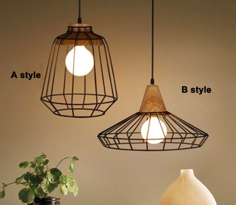 Pendant birdcage shade Loft Industrial Pendant Lights Vintage RH Edison Hanging Lamp E27 110 220V Pendant Lamps For Home Decor
