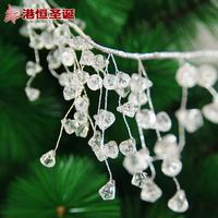 Christmas Tree Decorations 110cm White Acrylic Silver Chain Diamond Chain String Christmas Hanging String Ornaments
