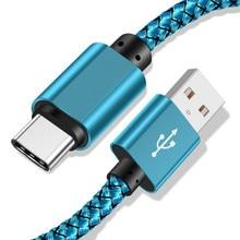 USB Type C Kabel voor Samsung S10 S9 Xiao mi mi 9 snelle opladen Data Telefoon Oplader Draad Type  C Kabel USB C Cord voor Huawei P30 20