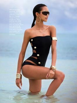 Studded One Piece Biquinis Swimsuit