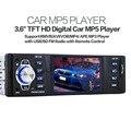 """NOVO 12 V câmera de visão Traseira 3.6 """"TFT HD Digital Car Rádios FM Estéreo MP3 MP4 MP5 Players De Áudio De Vídeo USB SD Eletrônica Do Carro In-Dash"""