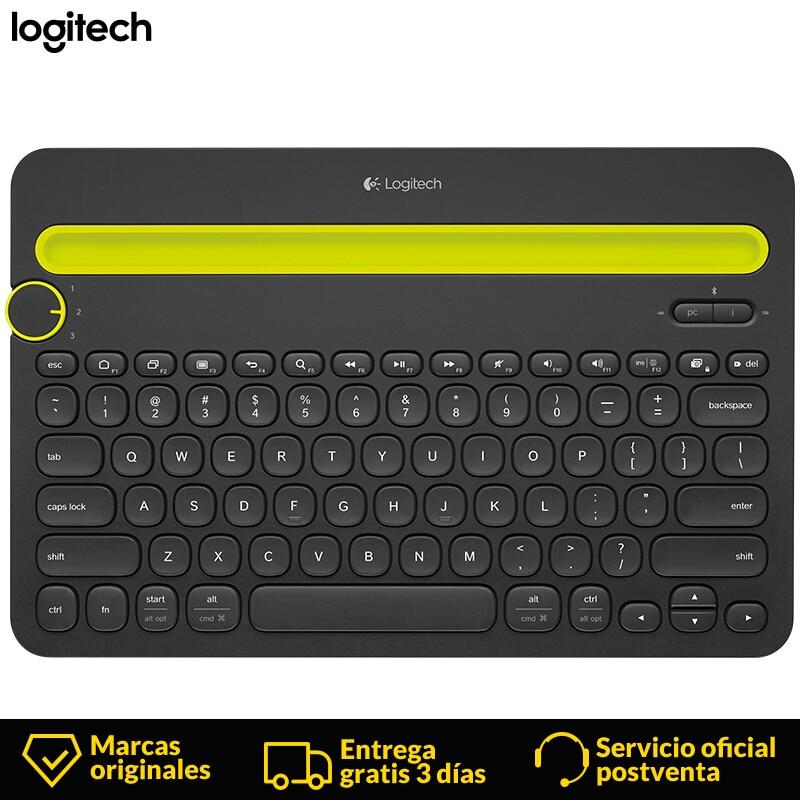 Logitech K480 mini clavier espagnol sans fil clavier de jeu 2.4Ghz gamer bluetooth clavier pour tablette TV Box Android ordinateur portable