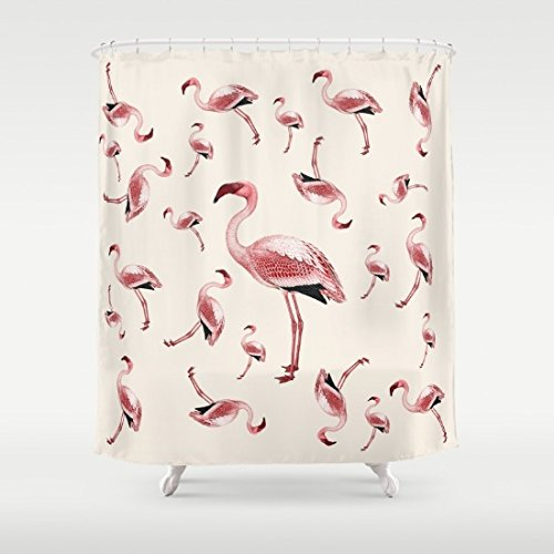 Flamingo Party pink and cream kitsch, retro, shower curtain-in ...