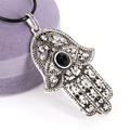 Thomas Style Big Hand Of Fatima Pendant & Necklace European Hamsa Hand Glam Jewelry Soul For Women TS Christmas Gifts Collier