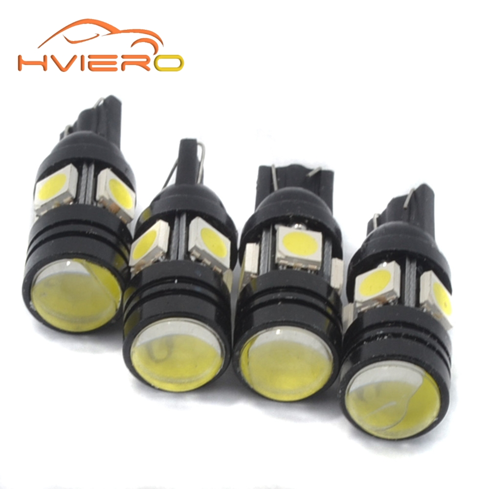 2pcs 168 192 T10 W5W LED 4SMD 5050 1.5W High power Super Bright Car Bulbs Auto Lamp width lamp license plate Lens Light scatter 1pcs t10 led w5w 5050 5smd 192 168 194 white lights led car light wedge lamp bulbs super bright dc 12v license plate light drl