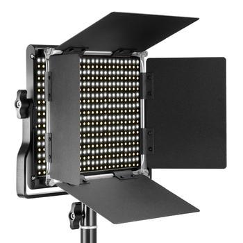 Neewer 3200-5600K Bi-color Dimmable CRI 95 660 LED Light+U Bracket Barndoor for Studio/YouTube/Photography/Video EU/AU Plug цена 2017