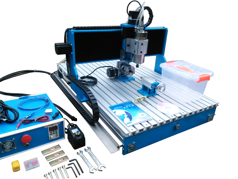 CNC Router Linear Guide Rail 6090 L-1.5KW 4axis milling machine factory sale cnc 6090 4axis 800w