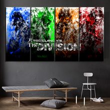 4 Piece Abstract Art Pictures Tom Clancys The Division Game Poster Paintings Canvas for Home Decor Wall