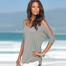 Casual Half Sleeve Off shoulder t-shirt for Women