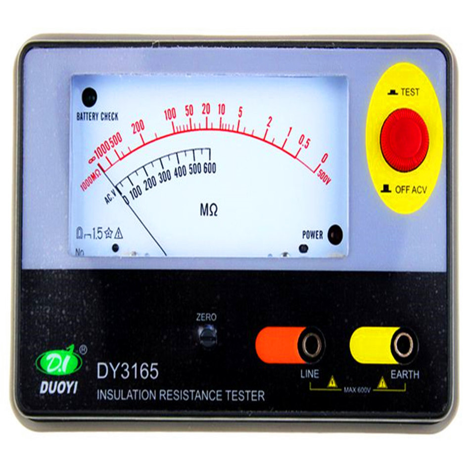 DY3165 550V 2000M ohm Analogue Megger Insulation Tester with Electronic Pointer Type ботинки гравитационные dy bt 166