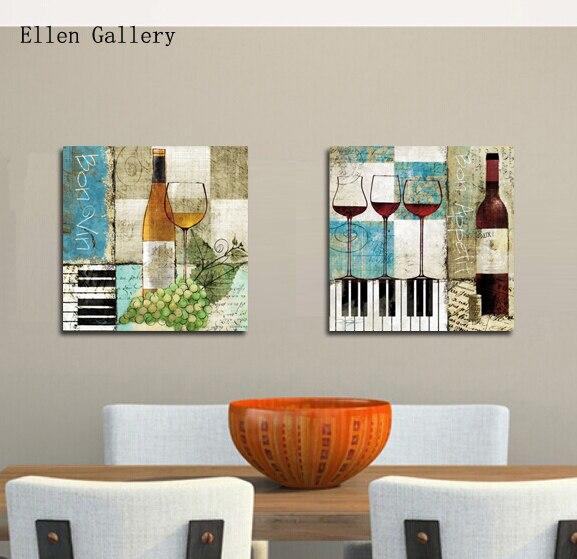 Botella de vino decoraci n lienzo pintura de pared cuadros para la sala cuadros quadros de - Cuadro para pared ...