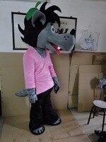 Высокое качество Взрослый размер Волк талисмана волк талисман Бесплатная доставка Ну, погоди! Кролик ожидания