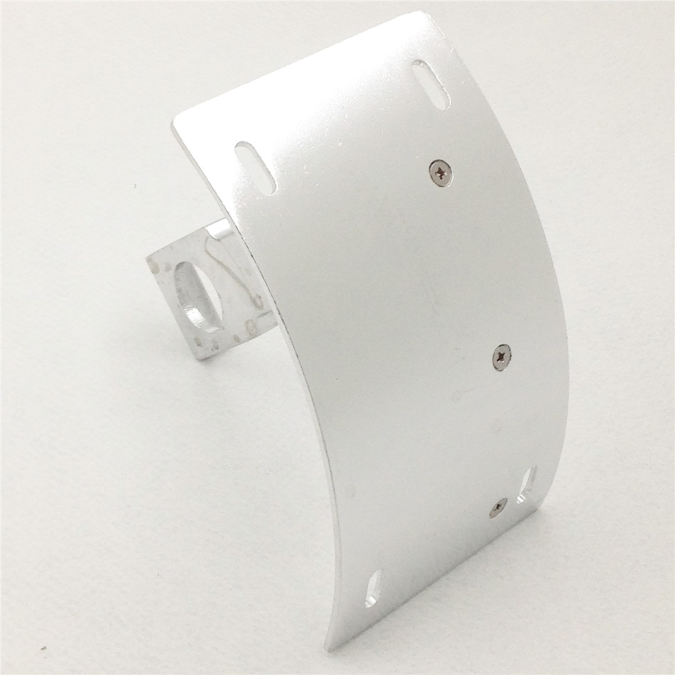 Aftermarket free shipping motorcycle parts Curved side License Plate Tag Holder Bracket for Yama YZF-R6S YZF-R1 R1 SILVER