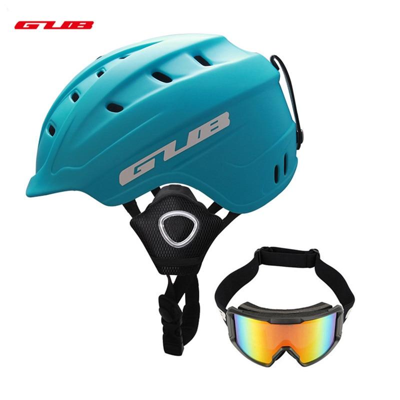 GUB エアロスケートボードスキースノーボードヘルメット一体成形超軽量男性安全機器スキーヘルメットスキー眼鏡  グループ上の スポーツ & エンターテイメント からの スキー ヘルメット の中 1