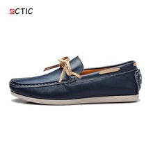 2017 New Luxury Leather Boat Shoes Mens Top Sider Driving Shoes Luxury Brand British Style Handmade Fashion Flats Gorgeous