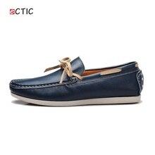 2017 Новый Роскошный Кожа Лодка Обувь Мужская Топ Sider Вождения Обувь Luxury Brand Британский Стиль Handmade Fashion Квартиры Великолепная