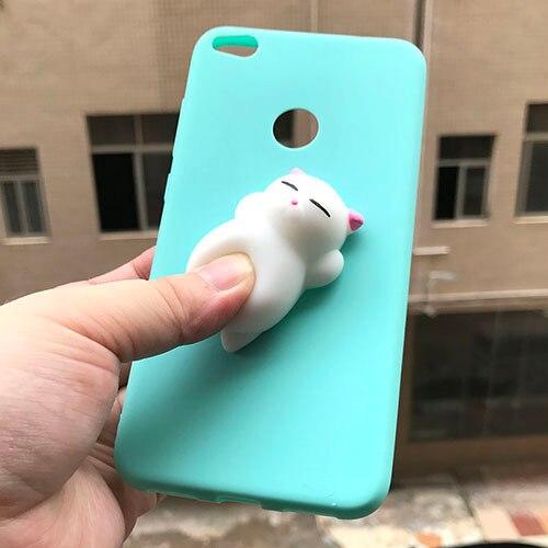 Cover per Huawei P8 Lite 2017 custodia morbida in Silicone simpatico cartone animato 3D Unicorn Cat per Huawei P8 Lite 2017 / Honor 8 Lite custodie ...