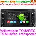 Volkswagen vw touareg/t5 transporter 6.0.1 android octa núcleo carro DVD Player Do Carro Computador de Bordo com Gravação USB DVR SD Rádio
