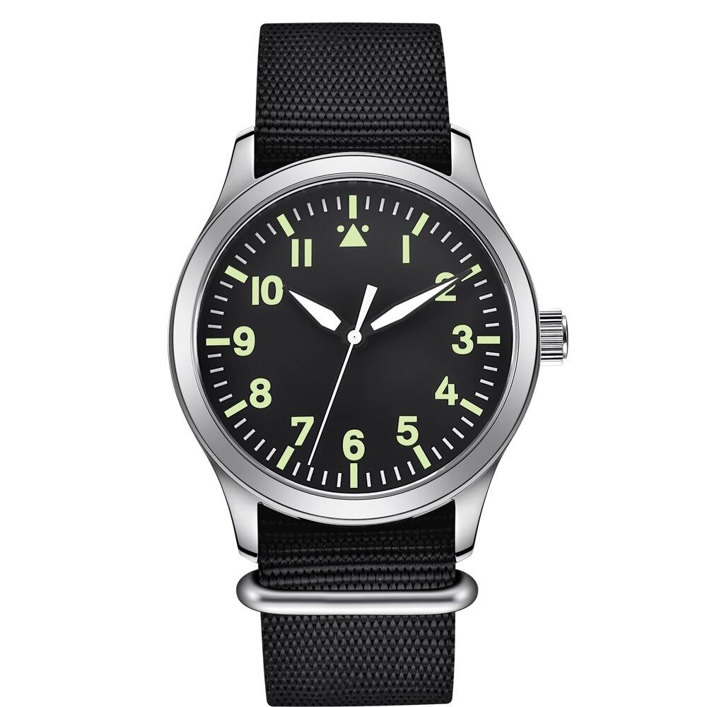 42mm Automatic mens  Top Brand Luxury seagull  Military luminous Relojes waterproof Nylon belt SS Mechanical wristWatches