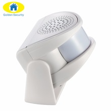Golden Security Wireless Door Bell Infrared 8m Welcome Guest Alarm Chime Motion Sensor Detector for Shop Home Store