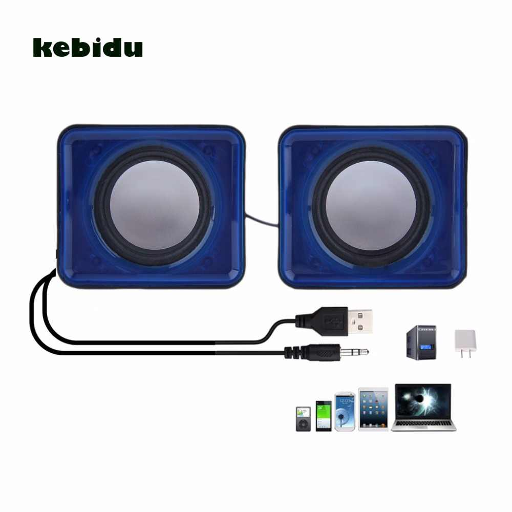 Kebidu Nieuwe collectie USB 2.0 Music Speaker Mini Muziek Stereo Speaker 3.5mm Pulg voor Multimedia Desktop Computer Notebook