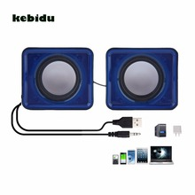 kebidu New arrival USB 2.0 Music Speaker Mini Music Stereo Speaker 3.5mm Pulg for Multimedia Desktop Computer Notebook