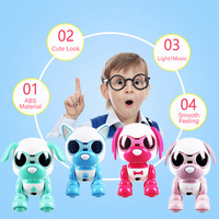 RC Pocket Mini Robot RC Dog Intelligent Touchable Blow Microphone Voice Record Laughing Barking Electric RC Kids Toys