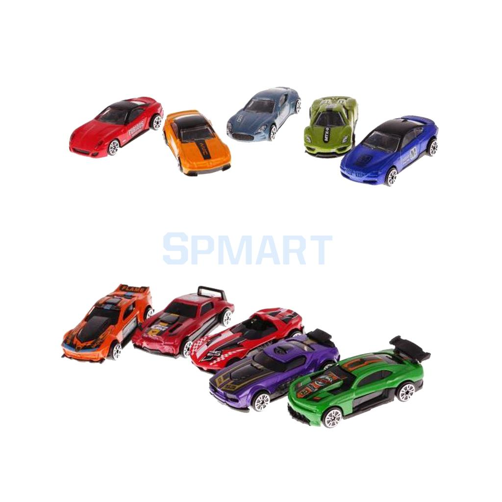 10 Pieces Mini Alloy Pull Back Toy Car Diecast Vehicle Model Set for Kids Playset Toy Birthday Gift Collectibles